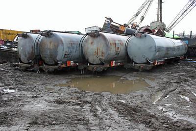 Ex Grangemouth Tanks at Booths 26/02/11