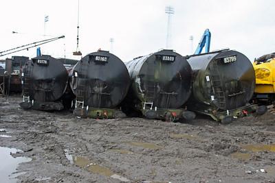 Ex Grangemouth Tanks 83776, 83160, 83599, 83799 at Booths 26/02/11