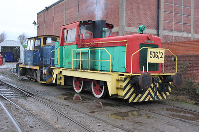 Andrew Barclay 0-4-0DH 506/2 at Booth Scrap Yard  26/02/11