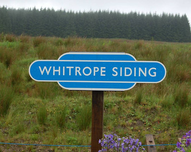 A new sign on the platform at Whitrope.