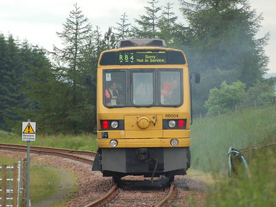 Another, closer, view of RB004 on 30th June 2012 as it operates a passenger train over the first quarter of a mile of restored track.