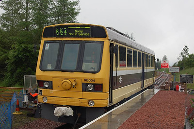A closer view of RB004 at Whitrope in heavy rain, 30th June 2012