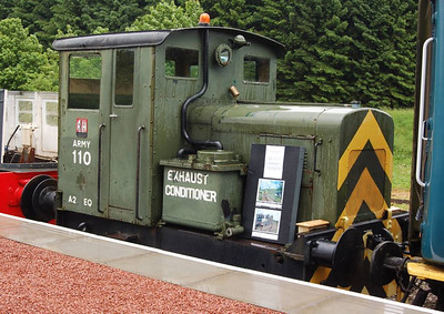 Army 110 is a Ruston Hornsby 4 wheel diesel mechanical locomotive, works number 411319 of 1958.