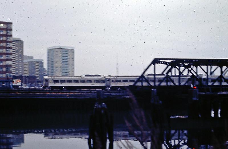 North Station Draw Bridge 2 RDC Trains