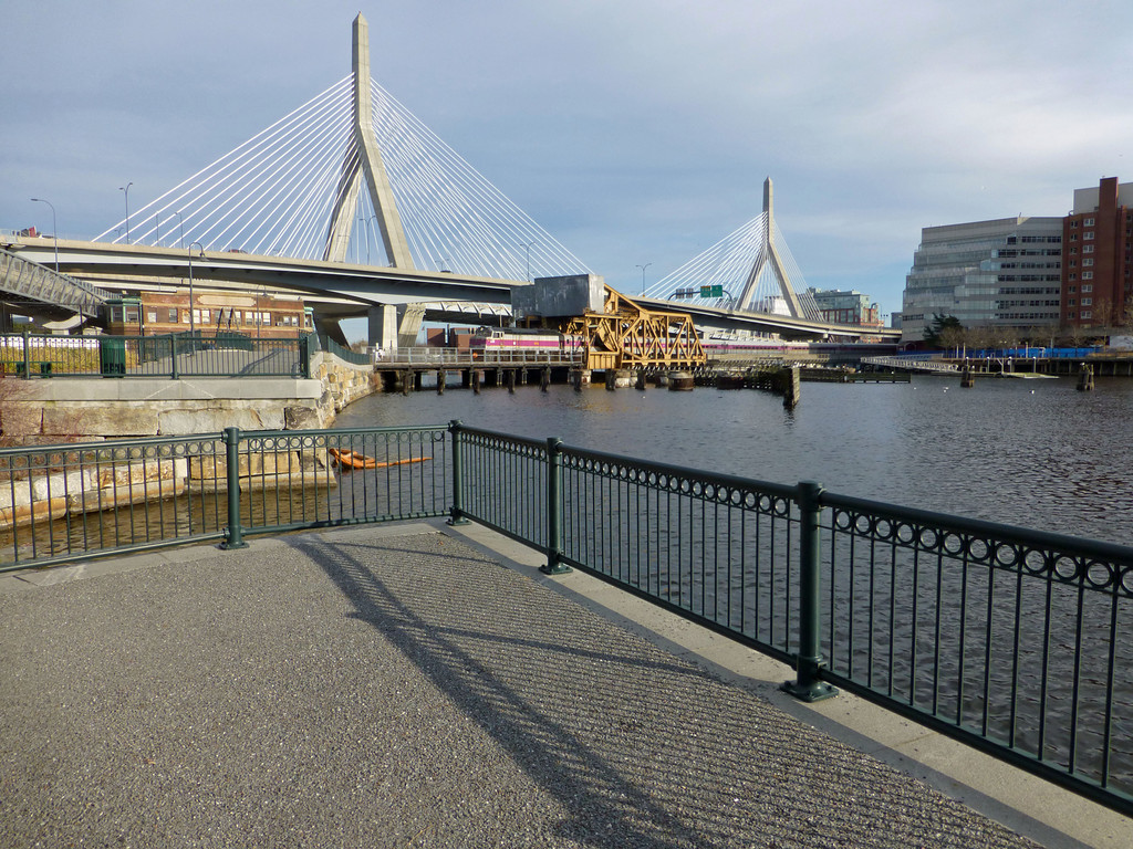 North Station Draw Bridges from the Cambridge Side of the Charles River