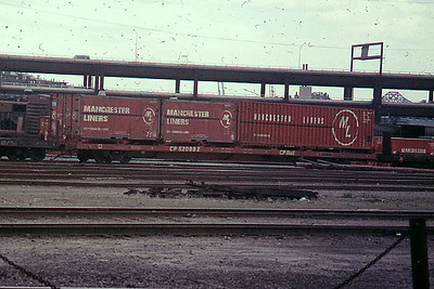 It has been a while since containers have been seen in Boston on former B and M rails. Date not recorded.