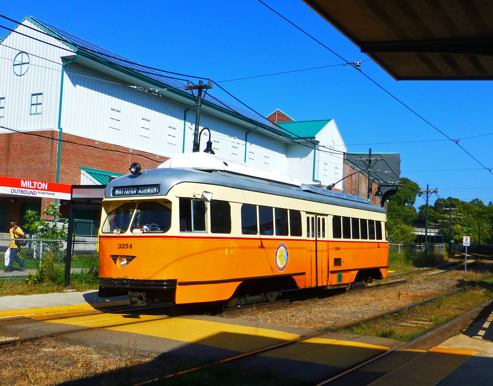 Milton Station - PCC Trolley Car Number 3254