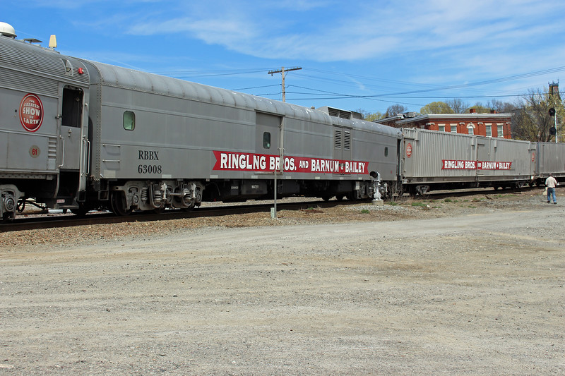 Ayer, Mass. - Car RBBX 63008 on the Last Circus Train