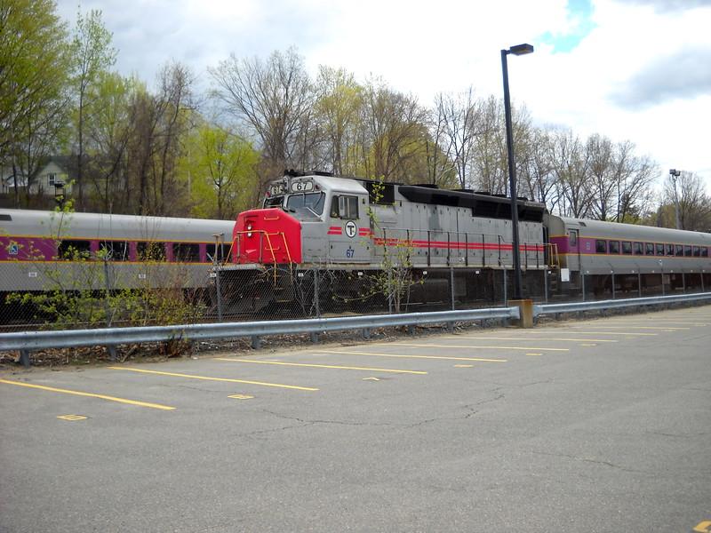 Bradford Layover Facility MBTA Engine 67