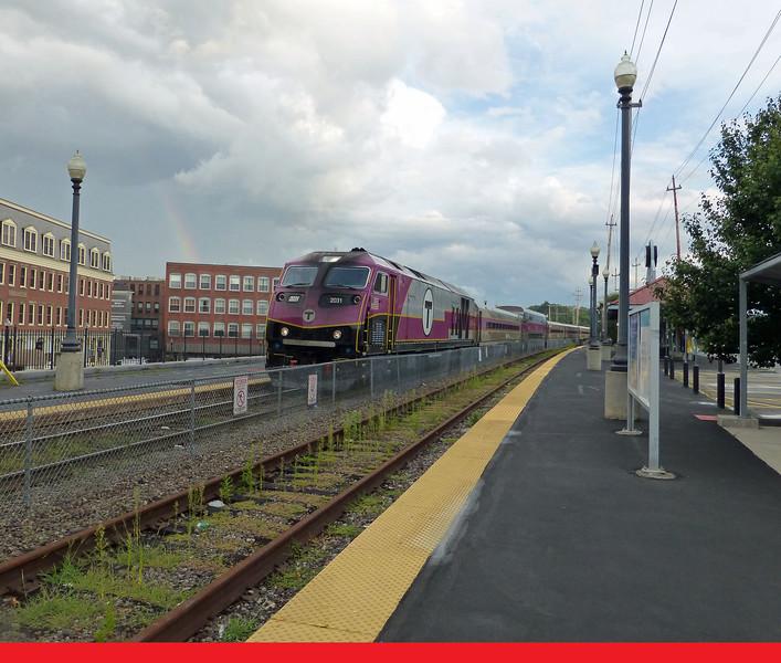 Haverhill, MA - MBTA Engine 2031 Enters Station