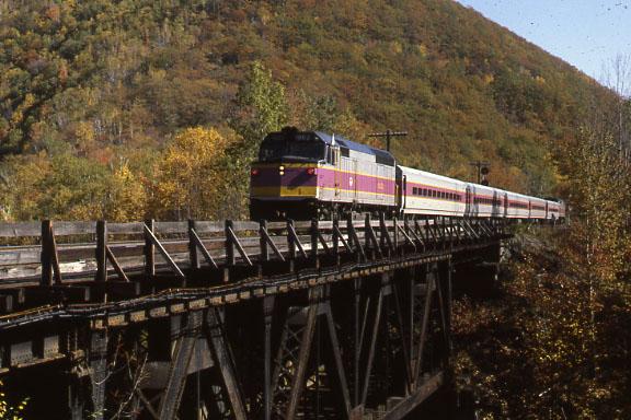 East Portal MBTA Engine on Bridge