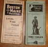 BM timetables from 1914 and 1929
