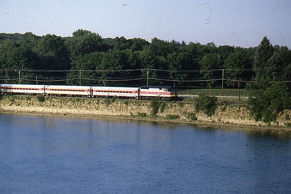 Tyngsboro Curve MBTA Train