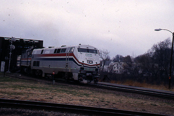 Bellows Falls Amtrak on Bridge in 1995