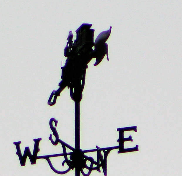Athol Depot Steam Locomotive Weathervane