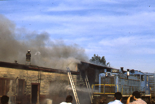 Lawrence, MA 1982 - Fire in a railroad building
