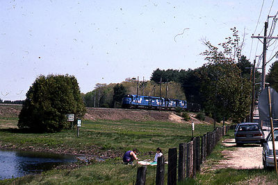 1992 - Shot 1 of 7 - Conrail power on coal train. The location is the former Worcester, Nashua, and Portland Division of the Boston and Maine RR a little south of Oakdale, MA