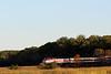 Newbury Marsh Engine 1058 Pushes Train into Woods