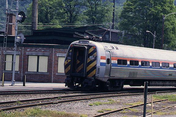 Bellows Falls Amtrak Control Car in 1995