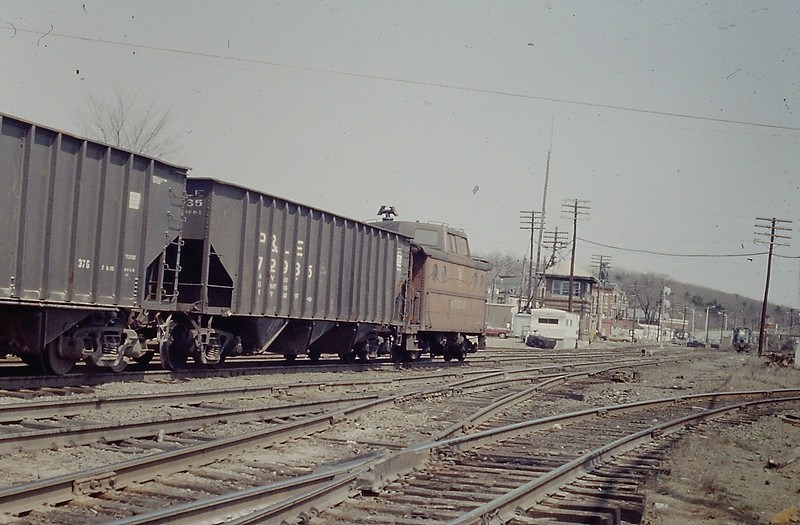 Ayer PRR Caboose on Coal Train
