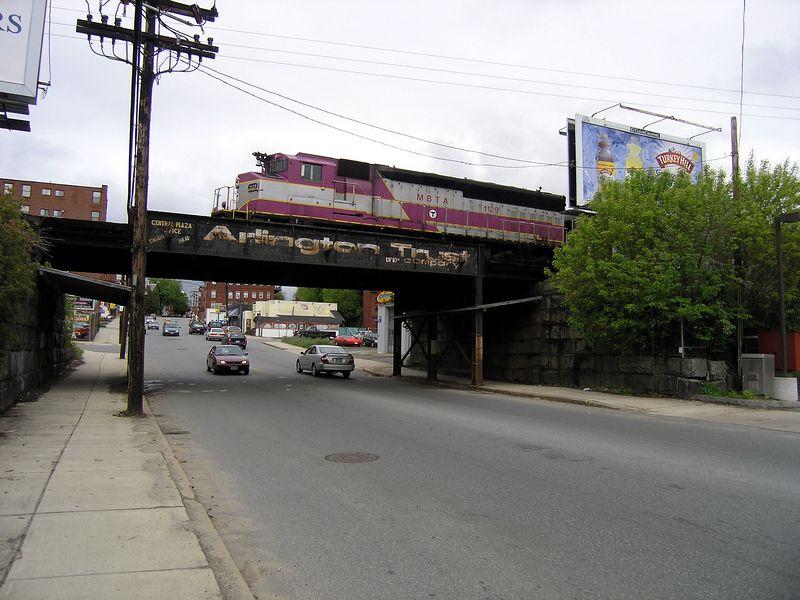 Winter Street Bridge Haverhill Train 2216