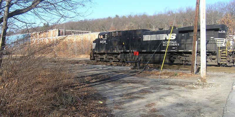 Ayer, MA  NS Power on Empty Coal Train