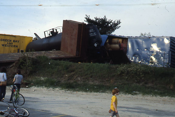 1978 - Wreck on the Portland Division near Shawsheen Station in Andover, Mass.