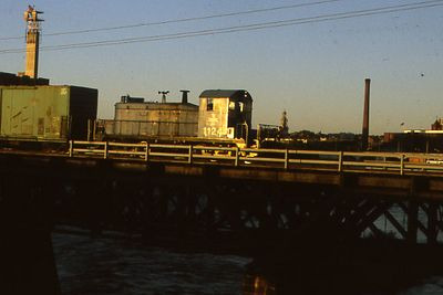 Lawrence, Mass. - The bridge carries the Manchester and Lawrence Branch over the Merrimack River. The scene is less than a half mile from the branch's junction with the Portland Division Mainline.