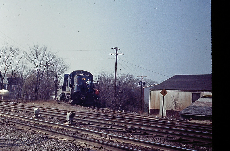 Ayer RS3 Locomotive Coming off Greenville Branch in 1973