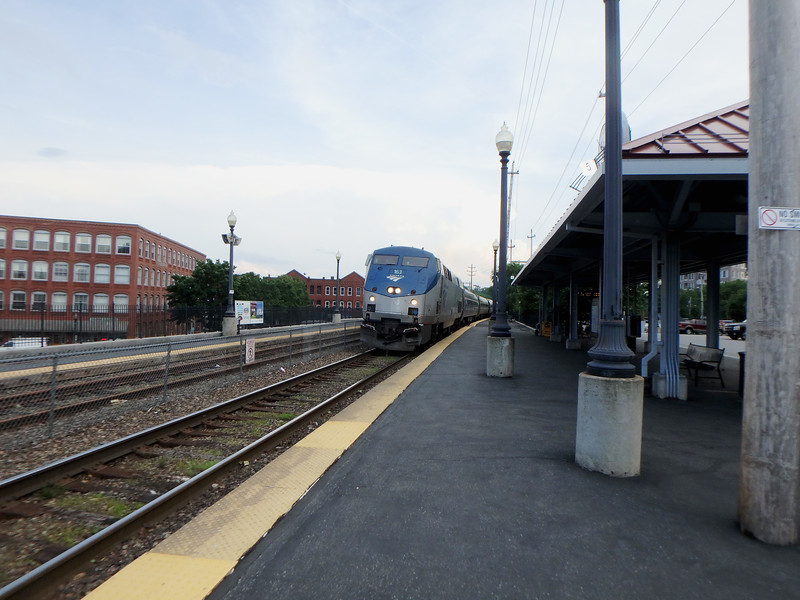 Haverhill Station Amtrak Train 685 with Engine 163