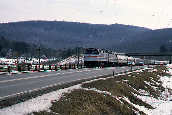 Amtrak Passenger Extra South of Charlestown NH
