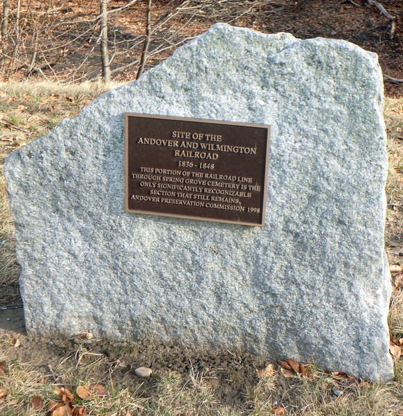 Andover and Wilmington RR Plaque