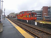 Haverhill, Mass. - MBTA Caboose Leading a Work Train