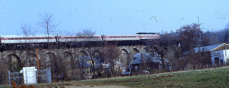 MBTA Commuter Train on the Historic Canton Viaduct