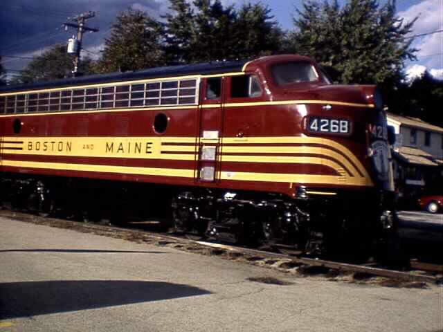 Boston and Maine Engine Number 4268