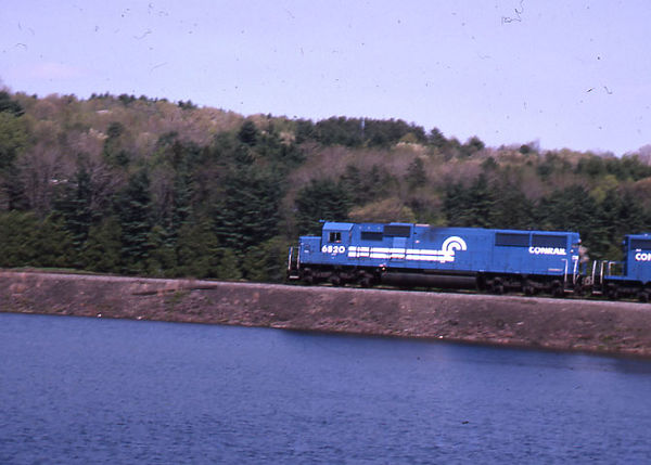 1992 - Shot 4 of 7 - Conrail power on coal train. The location is the former Worcester, Nashua, and Portland Division of the Boston and Maine RR a little south of Oakdale, MA