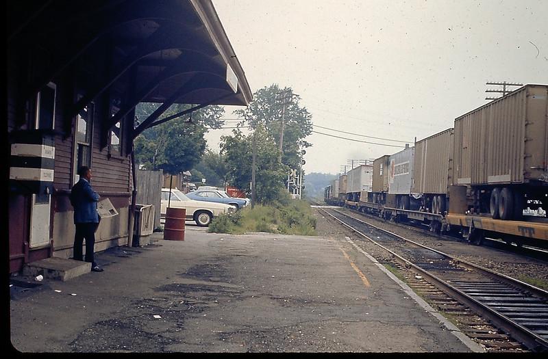 West Concord Depot Piggyback Train