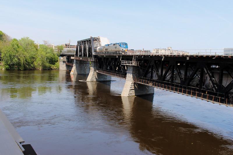 Merrimack River Bridge Train 684 Downeaster