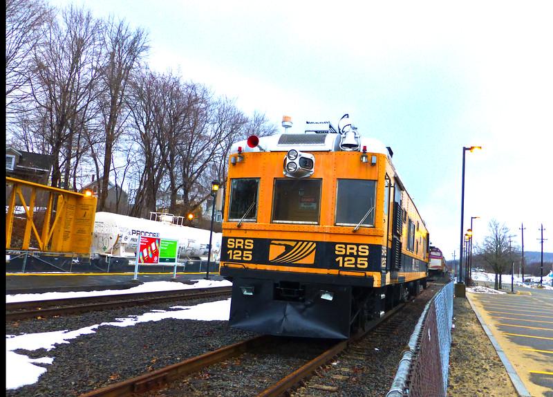 Bradford, MA  - MBTA Layover Facility - Sperry Car 125 - Front View