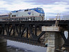 Merrimack River Bridge Amtrak Engine 125 on Train 684