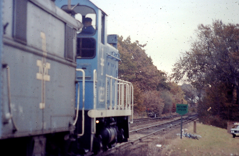 West Concord BM Switcher 1228 with Caboose in 1972