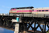Merrimack River Bridge - MBTA Engine 1057