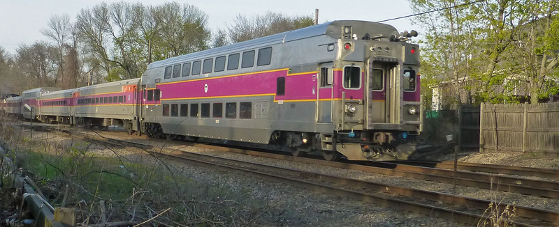 North Andover - New Double Decker Coach on Rear of Train Number 231
