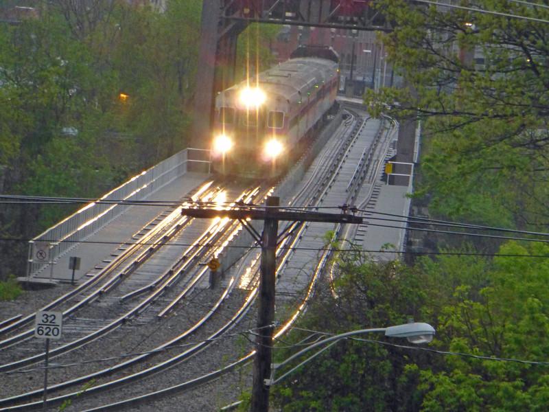 Control Car Leading Deadhead Mover over the Merrimack River Bridge