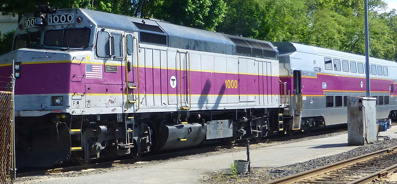Bradford Layover Facility - MBTA Engine Number 1000