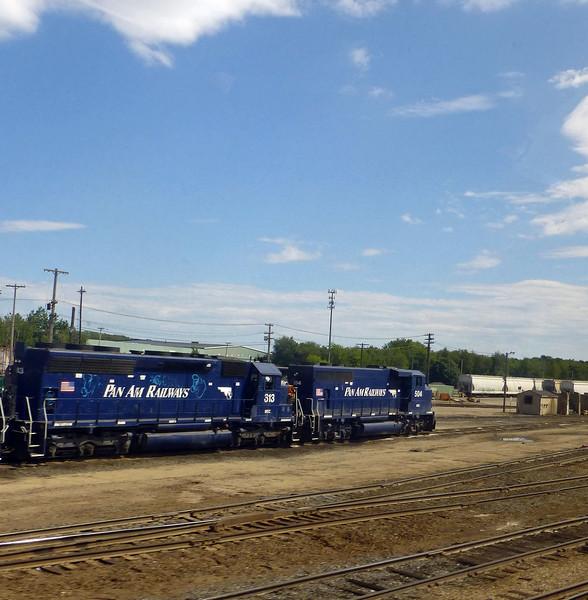 Rigby Yard Pan Am Engines 504 & 313