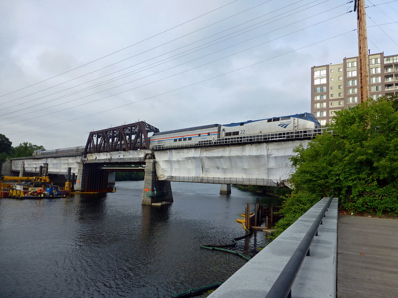 Merrimack River Bridge Great Dome on Train 690