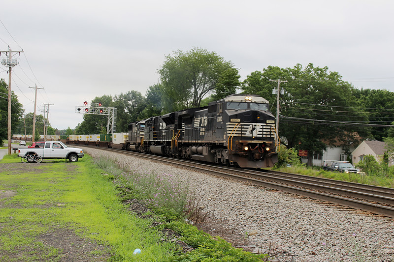 Shirley Mass Westbound Container Train
