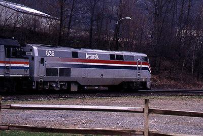 Bellows Falls Amtrak Eng 836