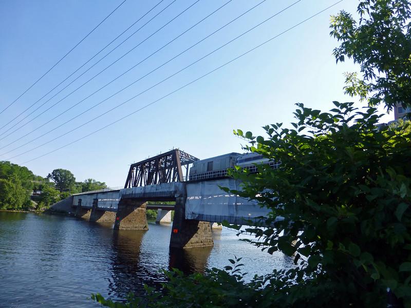 Merrimack River Bridge Cab Baggage Unit on Train 696